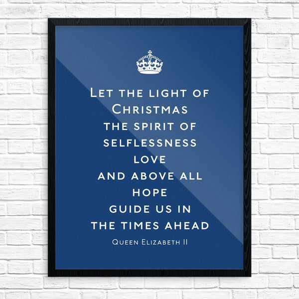 Queen Elizabeth II Let the Light of Christmas Speech Print