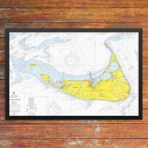 Nantucket Island Nautical Chart 12 x 18 Print