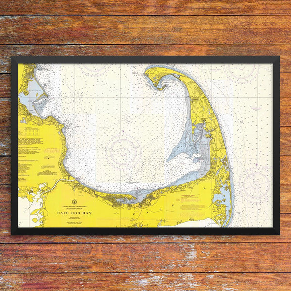 Cape Cod Bay Nautical Chart 12 x 18 Print