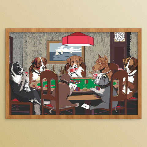 Dogs Playing Poker 12 x 18 Print