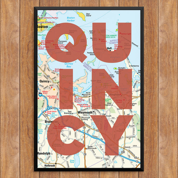 Quincy Map 12 x 18 Print