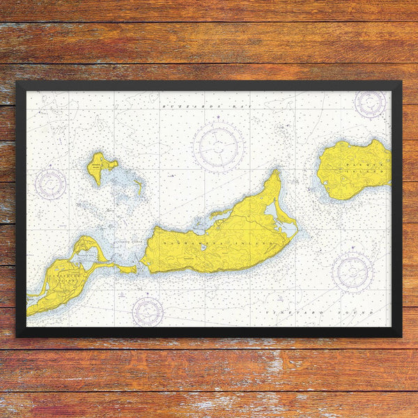 Cuttyhunk & The Elizabeth Islands Nautical Chart 12 x 18 Print