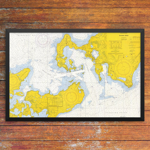 Woods Hole Passage Nautical Chart 12 x 18 Print