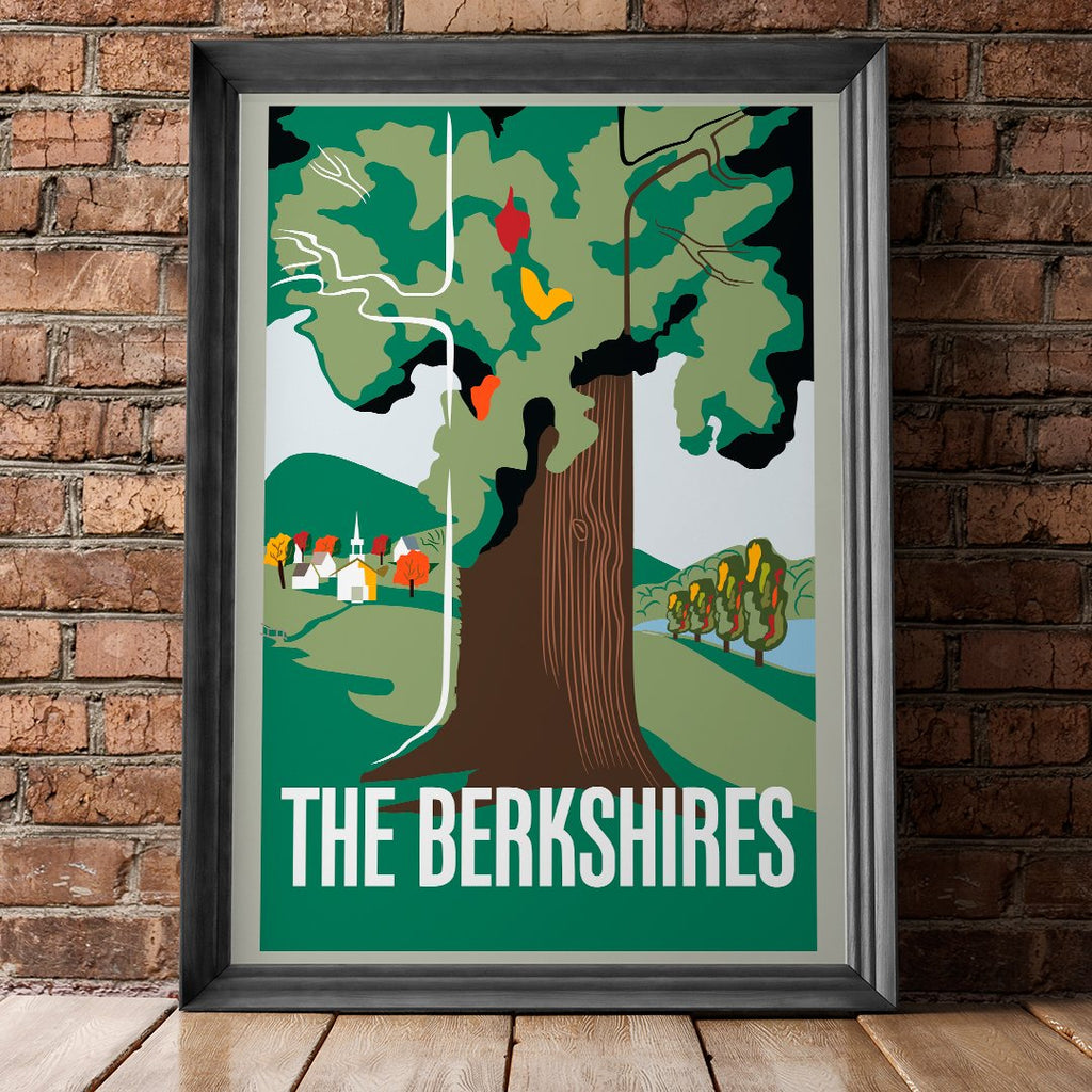 The Berkshires Travel Poster 12 x 18 Print
