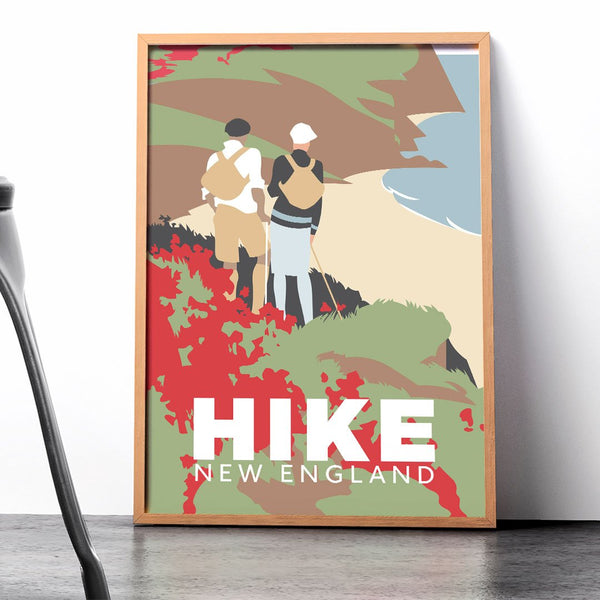 Hike New England Seaside Hikers 12 x 18 Print