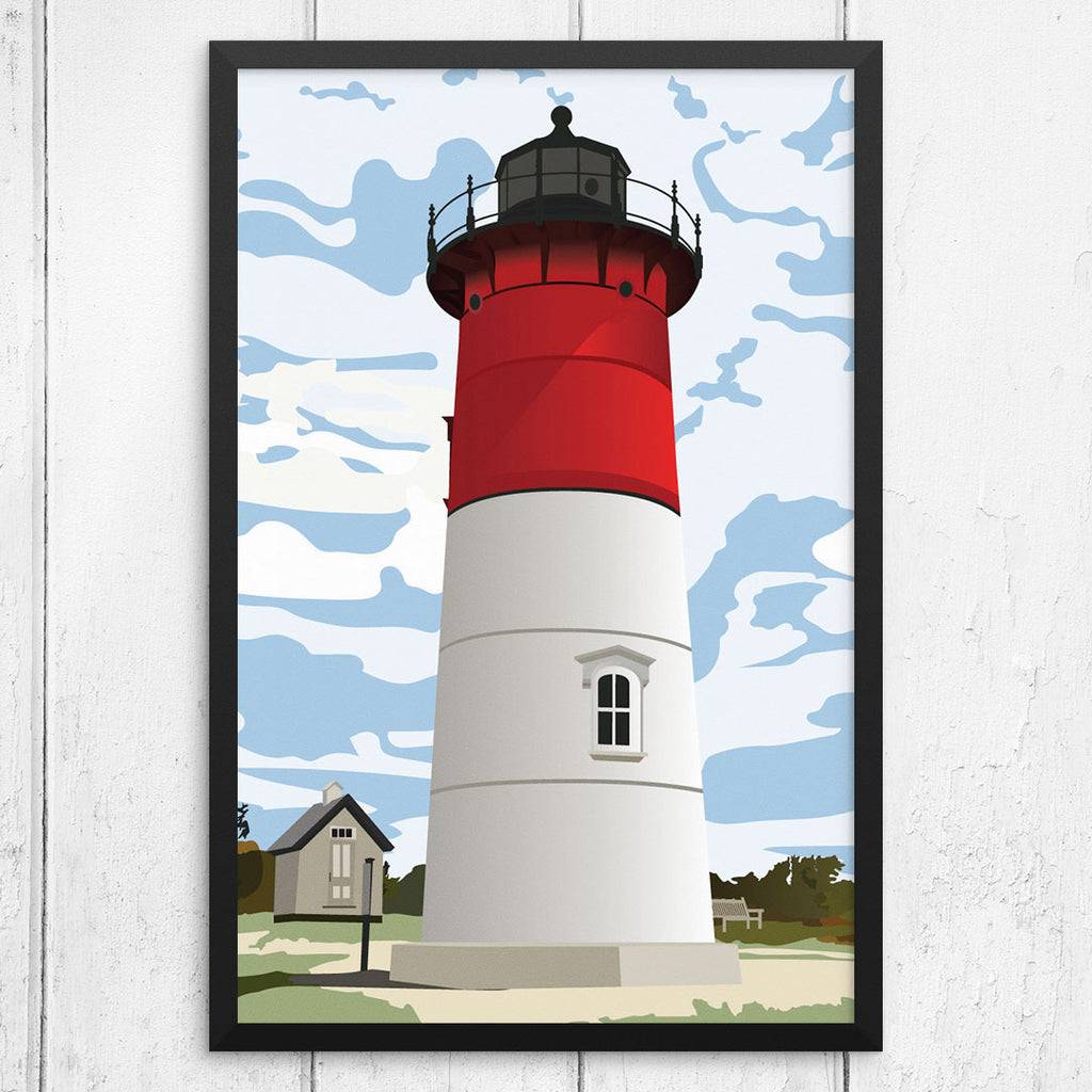Nauset Light Lighthouse 12 x 18 Print