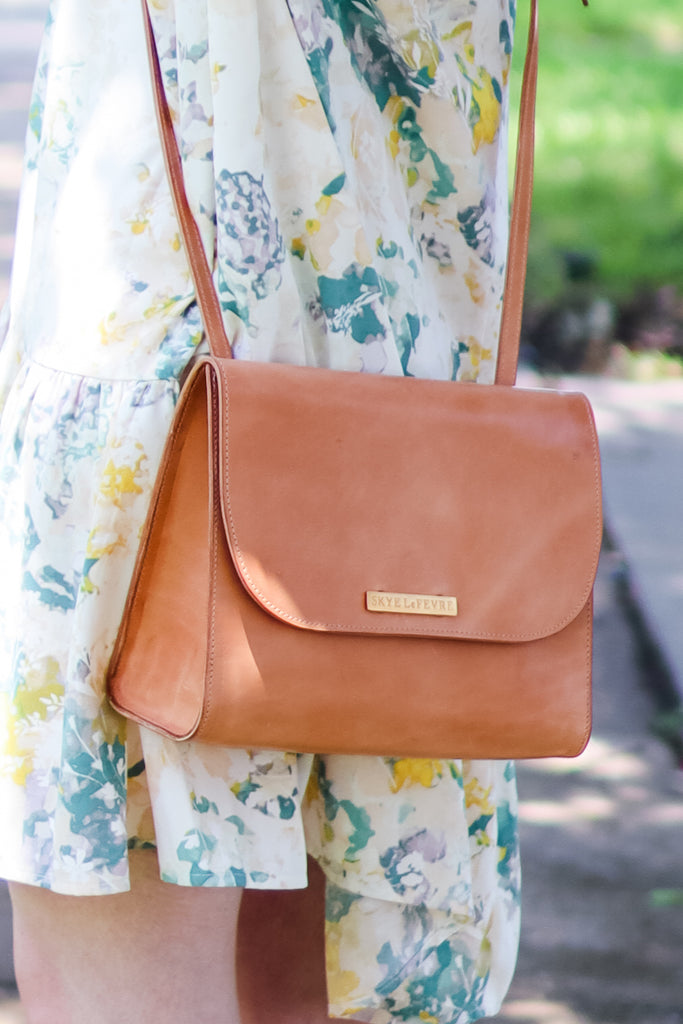 My Favorite Natural Leather Crossbody Bag
