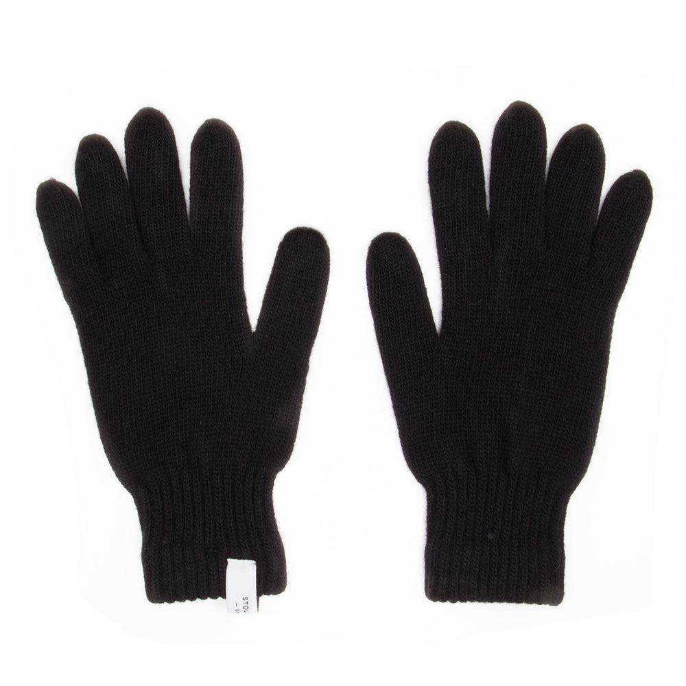 Folsom Black Wool Gloves - Stolen Riches / CA