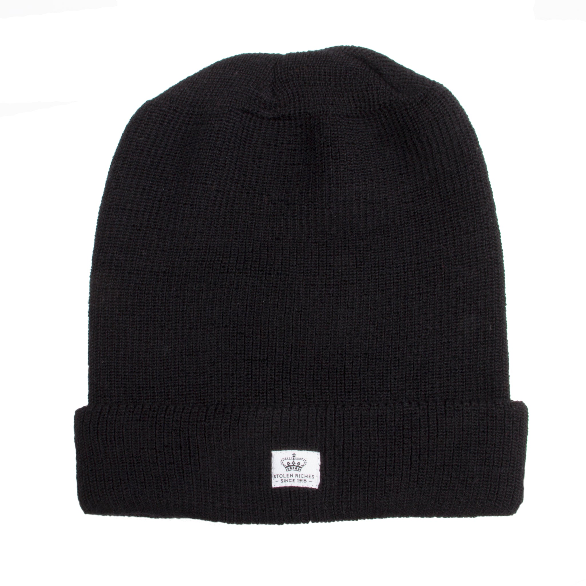 Folsom Black Wool Toque - Stolen Riches / CA