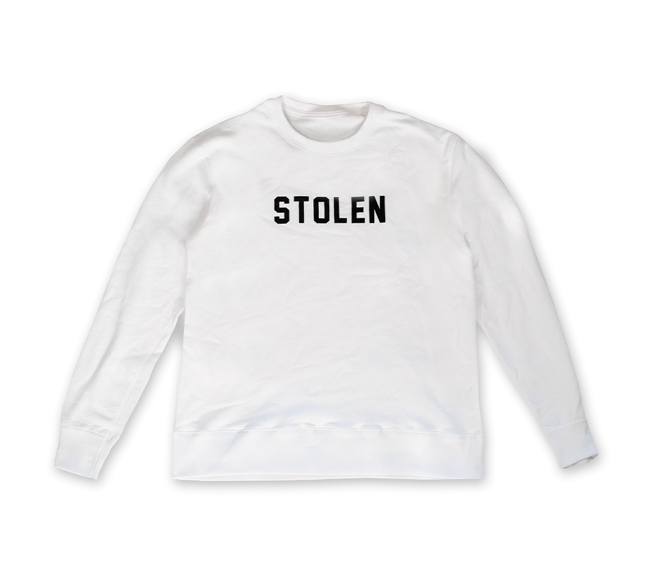 White Crew Neck - Stolen Riches / CA