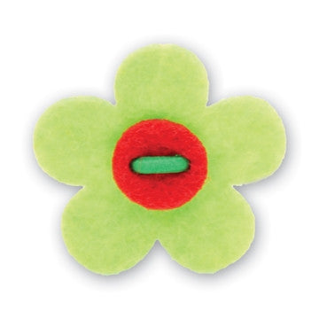 Flower Lapel Pin - Avalon Green with Portsalon Red - Stolen Riches / CA