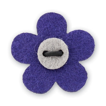 Flower Lapel Pin - Buster Purple with Isolar Silver - Stolen Riches / CA