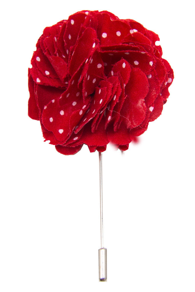 ... Cotton Lapel Pin - Portsalon Red with White Polka Dot - Stolen Riches -  1 ... 2d7cd154f