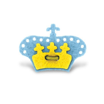 Crown Lapel Pin - Bishop Blue with Huckleberry Yellow - Stolen Riches / CA