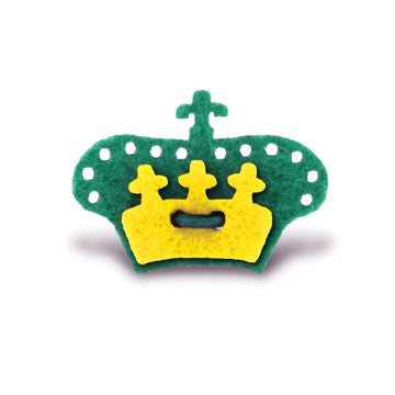 Crown Lapel Pin - Nicklaus Green with Huckleberry Yellow - Stolen Riches / CA
