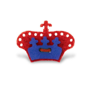Crown Lapel Pin - Portsalon Red with Mission Blue - Stolen Riches / CA