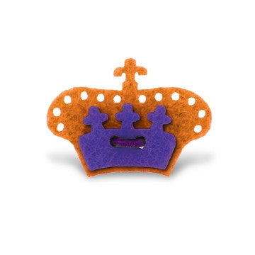 Crown Lapel Pin - Tiqui Orange with Buster Purple - Stolen Riches / CA