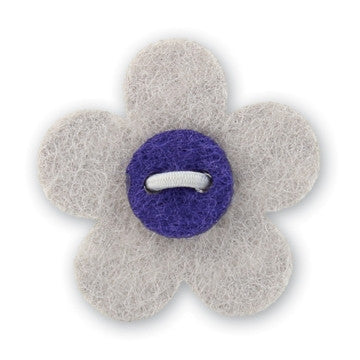 Flower Lapel Pin - Isolar Silver with Buster Purple - Stolen Riches / CA