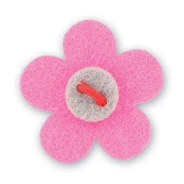 Flower Lapel Pin - Ponna Pink with Isolar Silver - Stolen Riches / CA
