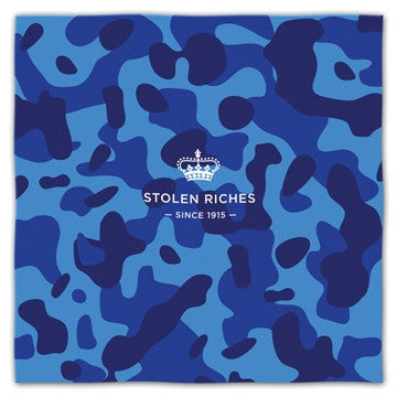 "Camo Blue - Pocket Square (13""x13"") - Stolen Riches / CA"