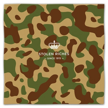 "Camo Green - Pocket Square (13""x13"") - Stolen Riches / CA"
