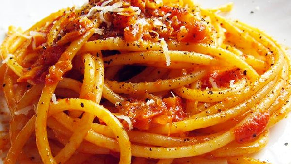 Pasta All'amatriciana With Grilled Chicken