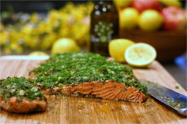 Roasted Salmon & Green Herbs