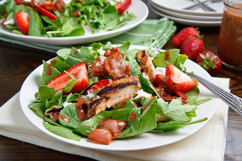 Strawberry & Balsamic Grilled Chicken Salad