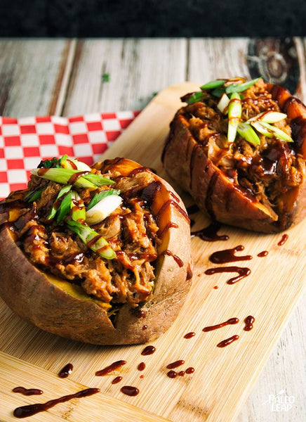 Stuffed Sweet Potato with BBQ Chicken
