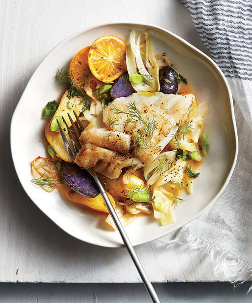 Cod, Fennel and Sweet Potatoes
