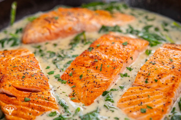 Salmon With Mustard Cream Sauce