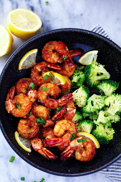 Sticky Honey Garlic Shrimp