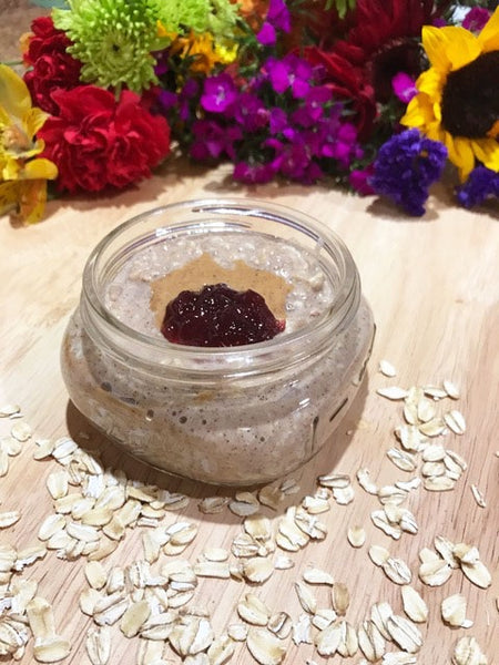 Almond Butter and Grape Jelly Oatmeal