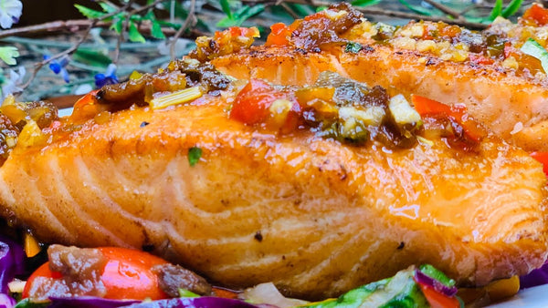 Roasted Salmon With Tamarind Sauce