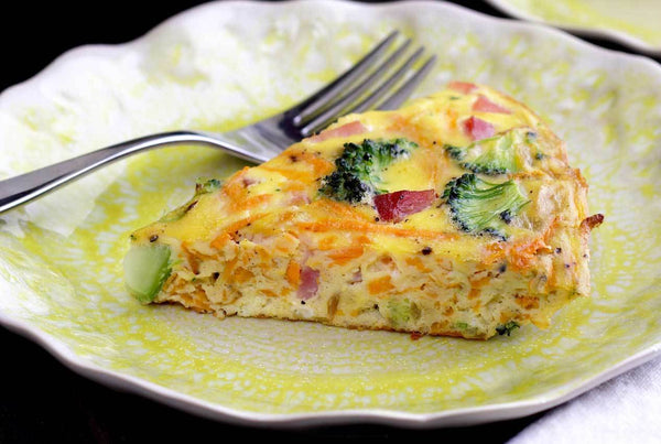 Ham, Broccoli and Sweet Potato Frittata