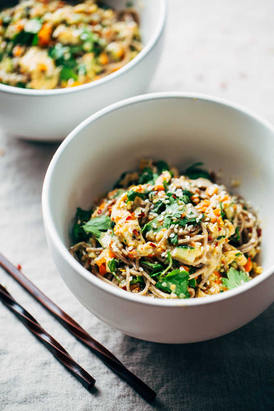 Chopped Chicken Sesame Noodle Bowl