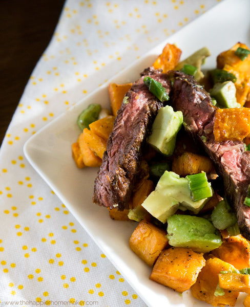Sweet Potato and Pineapple Beef Bowl