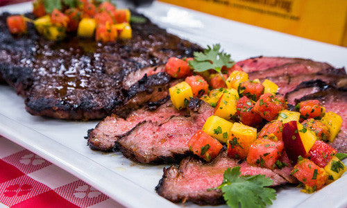 Grilled Molasses Flank Steak