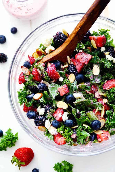 Triple Berry Mixed Greens Salad