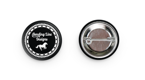 "Pinback Button Set - Set of Two 1.25"" Logo Buttons"