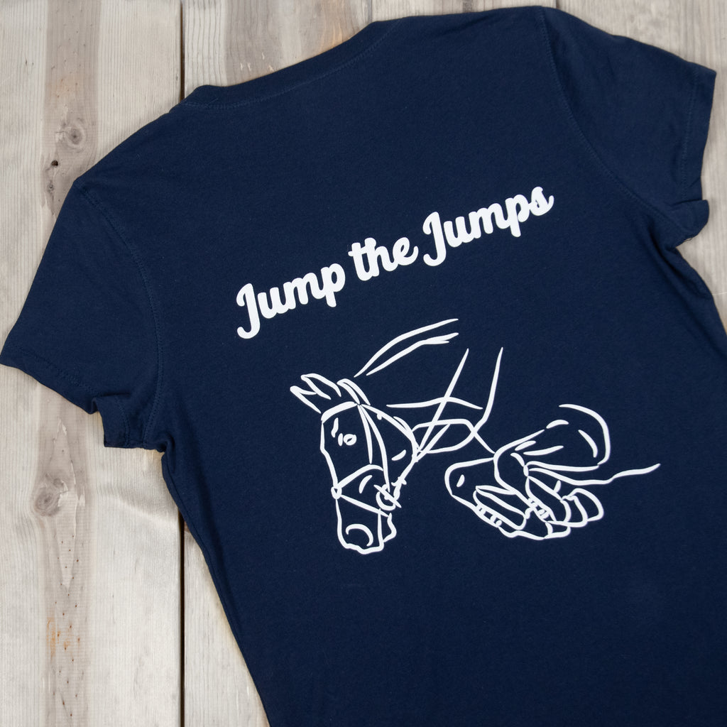 Jump the Jumps V-Neck Tee (Navy)
