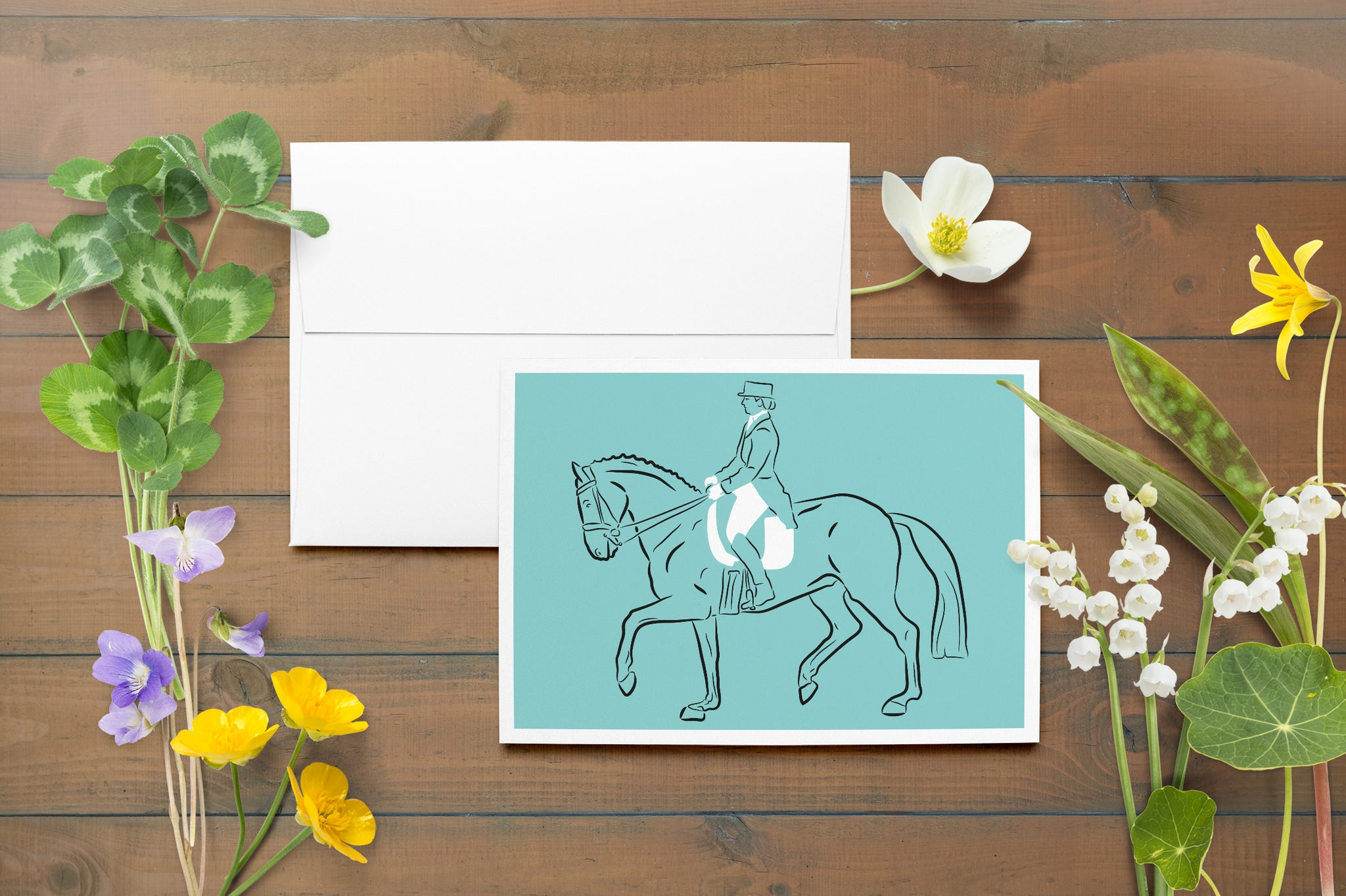 Dressage Cards (Set of 10 Blank Cards)