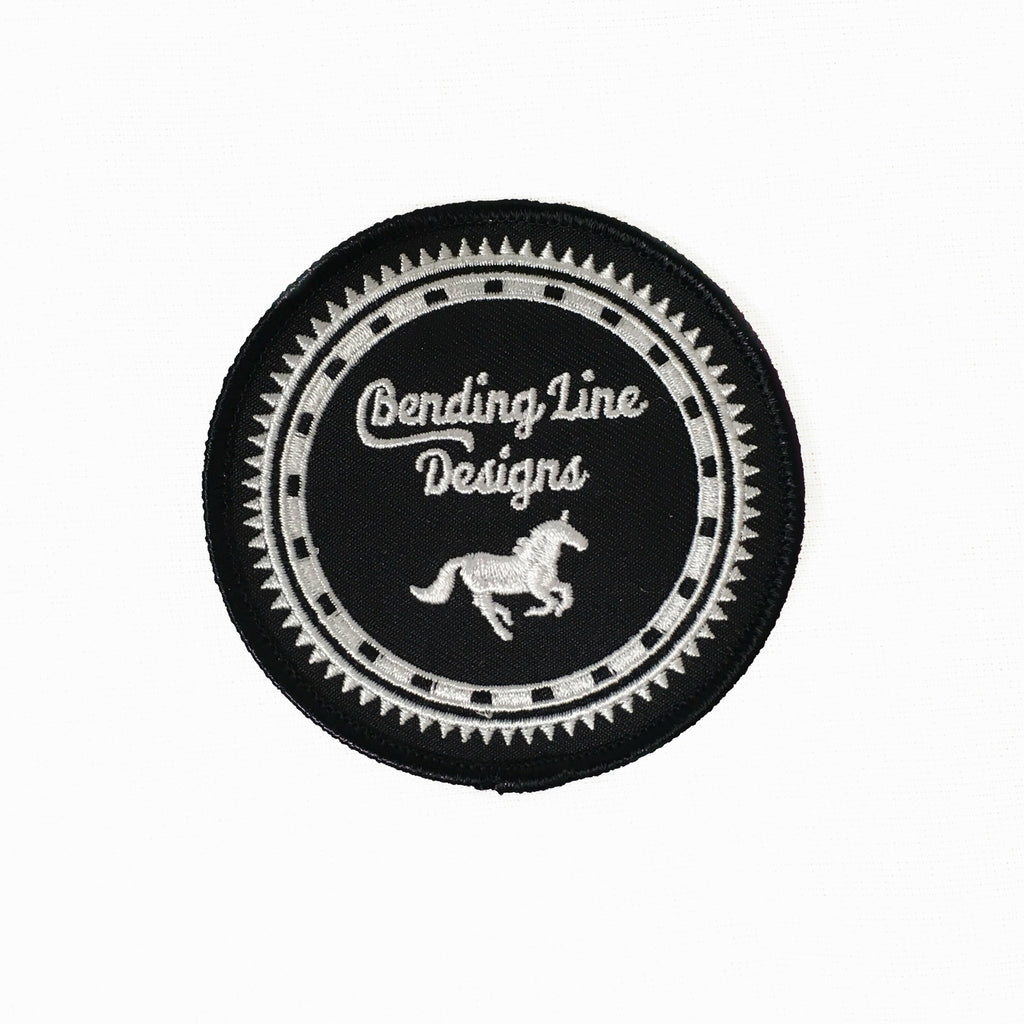 "BLD Embroidered Patch – 3"" Circle - Bending Line Designs"