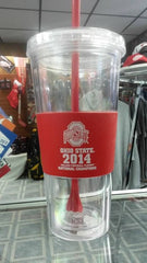 NCAA Ohio State Buckeyes Championship 22oz Double Wall Tumbler with Straw - Hockey Cards Plus LLC