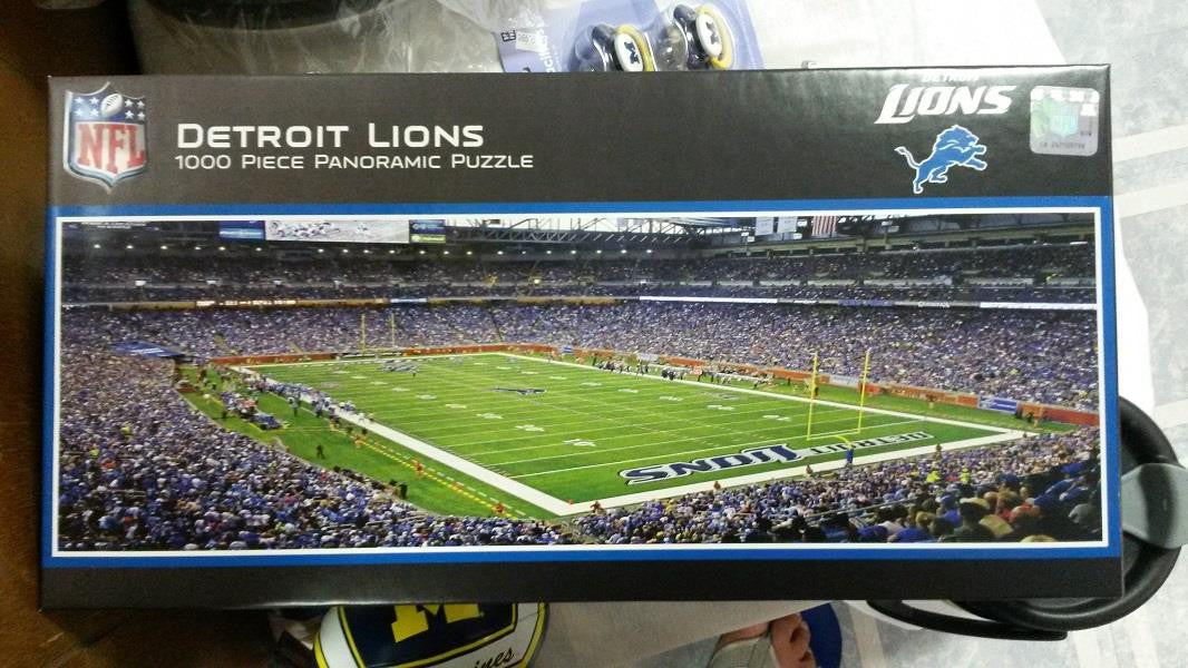 NFL Detroit Lions Ford Field 1000 Piece Panoramic Puzzle - Hockey Cards Plus LLC