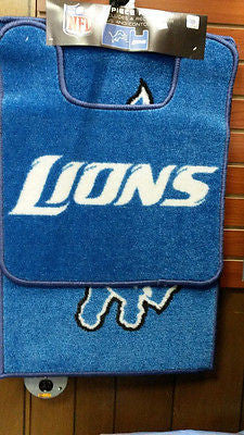 NFL Detroit Lions 2PC Bath Mat Set