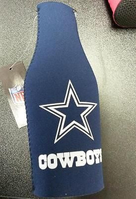 NFL Dallas Cowboys Neoprene Bottle Suit Holder with Zipper - Hockey Cards Plus LLC