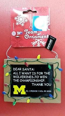 NCAA Michigan Wolverines Resin Chalkboard Sign Ornament - Hockey Cards Plus LLC