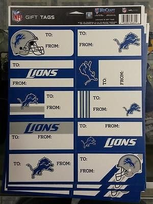 NFL Detroit Lions Gift Tags - Hockey Cards Plus LLC