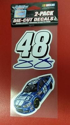 "NASCAR Jimmie Johnson Perfect Cut Decal Set Of Two 4"" x 4"""